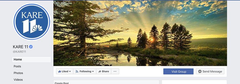 Facebook Kare 11 Banner