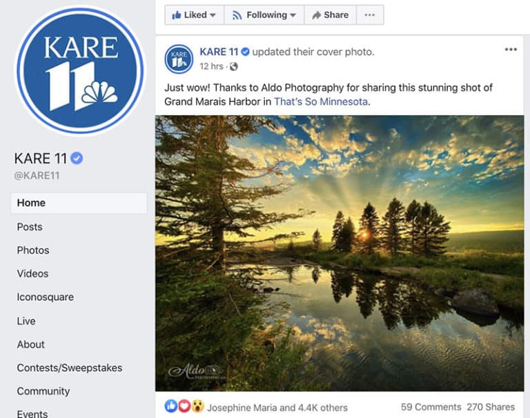 Facebook Page for KARE 11
