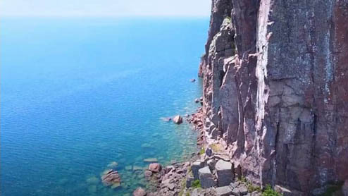 Drone of Lake Superior